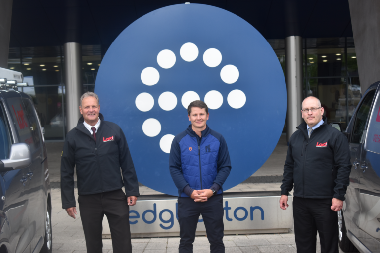 From L, Lord Combustion Services Director Mark Chapman, Edgbaston Commercial Partnerships Executive Scott Elstone And Lord Md Stuart Smith