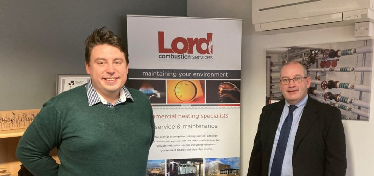 West Bromwich West Mp Shaun Bailey With Lord Combustion Services Md Stuart Smith